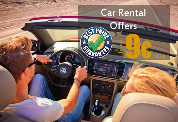 Car rental booking online from 9 euros a day